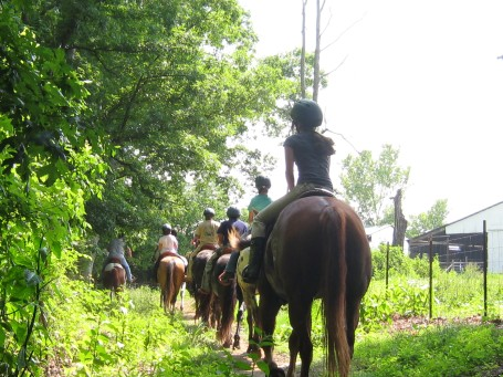 Bachman Horse Camp_riding back to the barns